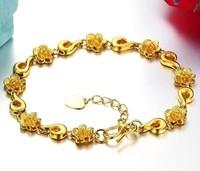 NEW ROSE flower bracelet 18k gold bracelet women bracelet jewelry fashion jewelry accessories good quality.free shipping
