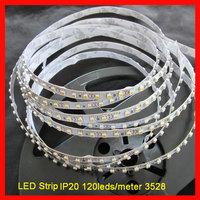 wholesale 50m/lot  IP20 120leds/m SMD3528 led strip 12VDC/24VDC Best and superbright LED strip light Free shipping by DHL