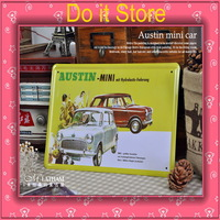 [ Do it ] Austin Mini cars iron painting Home Decoration Vintage car poster Metal paintings 20*30 CM Free shipping