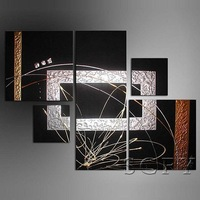 Pure abstract home decoration framed oil painting on canvas modern wall art mural home decor