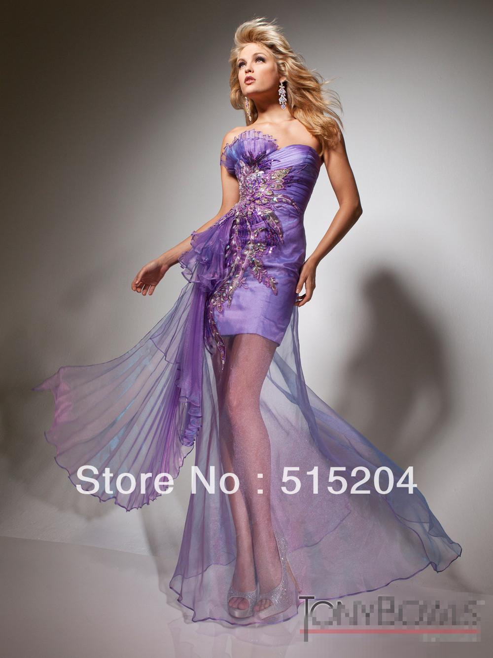 Purple High Low Prom Dresses 2013 - intellego