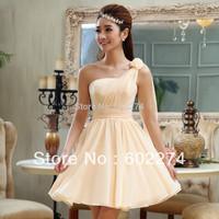 2013 New Fashion One Shoulder Formal Short Design Evening Dress Free Shipping