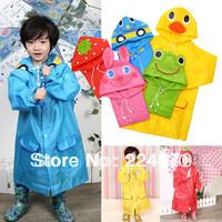 Free shipping Wholesale 2pcs/lot LINDA Raincoat Kids Rain Coat Boy's Girls Rain cape Waterproof Coats 5 Design