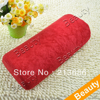 New Soft Hand Cushion Pillow Rest Nail Art Manicure Art Red  4061