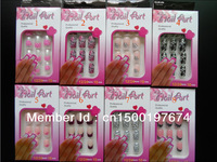 new French style Predesigned/Acrylic/False articial nails 48 designs for choice