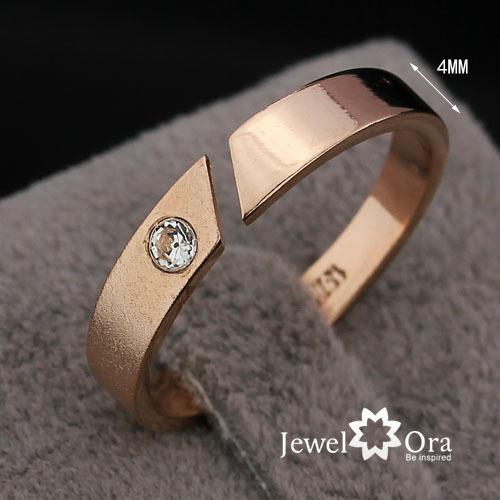 Golden Bridal Wedding Ring Health Jewelry Simple Flat Band Ring Rose Yellow Gold Plated Ring (JewelOra Ri100905)(China (Mainland))