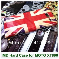 Hard Retro & New USA UK Flag Pattern Hard Back Cover Case for MOTO XT890(RAZR i) 25PCS Free Shipping(China (Mainland))
