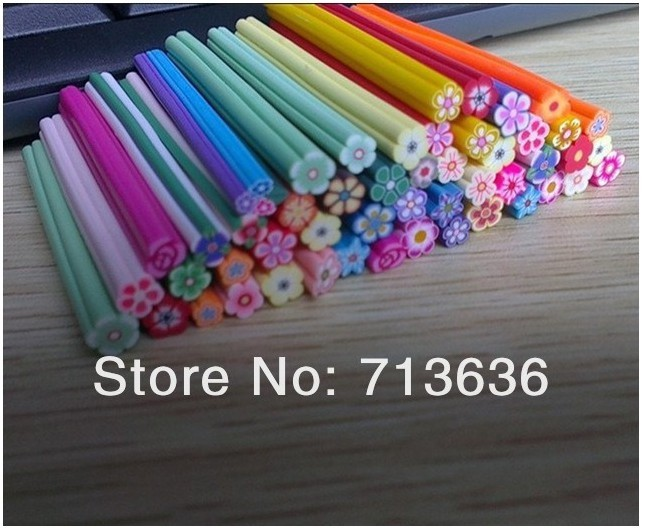 Fashion Nail Art Fruit and Flower Decoration Slice Rod Stick Cane DIY(China (Mainland))