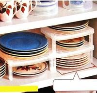 Mutifunctional Overlapping Bowl Plate Storage Shelf Rack HY35372