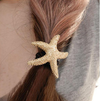 New Arrival Fashion Starfish Hair Accesories Gold Plated Sea Star Hair Bands Korean Jewelry SF097