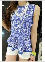 free shipping Slim sleeveless chiffon shirt doll shirt wholesale