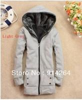 Women's Winter Thicken Fur Warm Zip Hoodied Coat Outerwear Jacket 6 Colors 3681   /free shipping