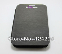 Retail Flip Case for N7100, Leather Flip Cover With Back Battery Case For Samsung Galaxy Note II 2 N7100 Freeshipping