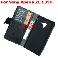 Stand Case Mobile Phone Leather Case Book Case  For Sony Xperia ZL L35H Xperia ZQ C6502 C6503 C6506