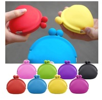 Free shipping by DHL silicone bag coin bag 100pcs/lot 10 colors choose BG012