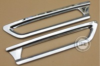 ABS Chrome tail rear fog light lamp cover trims fit for honda CRV CR-V 2010 2011 Free shipping