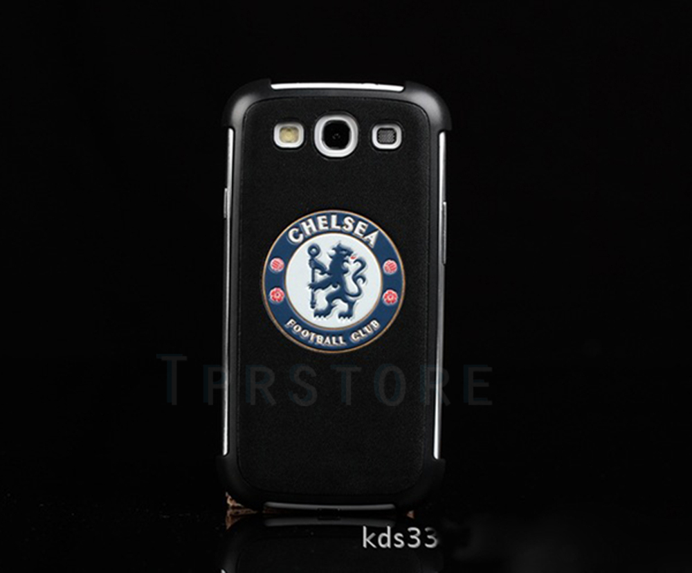 Free Shipping High-grade PC+Real Leather Soccer Football Club FC Case Cover for i9300 S23-1(China (Mainland))