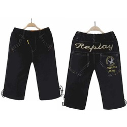 New Preppy Style 2013 Boy Kids Capri Pants & Trousers Size 120-160 Summer Male Child Fashion Shorts Free Shipping K619118(China (Mainland))