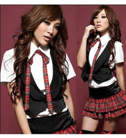 school girl uniform vest lolita costumes for teens sexy uniforms free shipping/XS037