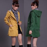 Free shipping 2013 fashion women overcoat medium-long slim outerwear casual women's fashion jacket smart coat