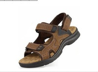 summer   Mens Genuine Leather  Camel leather sandals fashion casual slippers  cowhide sandals/beach shoes/size:38-44