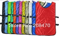 Free Shipping Kid's Blank Soccer Group against vests best silkete materials soccer training jerseys 9 colors sports bib clothing
