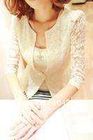 Free shipping!!!2013 blazer slim lace short blazer design suit outerwear blazer spring/autumn women's tops