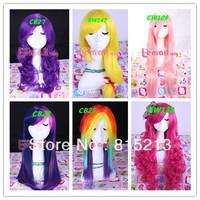 My Little Pony Twilight/Dashie/AJ/Rarity/Fluttershy/Pinkie Pie 6 styles wig hair Free Shipping