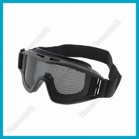 High Quality Unique Steel Mesh Protective Goggles Mask Black Light Weight Free Shipping