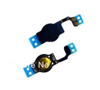 Free Shipping  10pcs/lot For iPhone 5 5g Home button Flex Cable Spare Repare Parts Replacement White And Black color