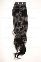 Natural Straight Off Black Color 1B# Brazilian Virgin Human Hair Weaving Extensions