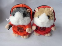 32pcs/ctn  DJ Mimi Pet Hamster Talking animal TOMY talking animal pet gray /brown/yellow 3*AAA not include