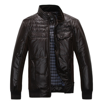 Raging bull2012 wadded jacket thermal patchwork men's casual outerwear