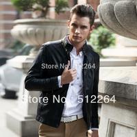 Hot! 2014 Top Quality Man Locomotive Leather, Popular Man Leather Jacket Coat M L XL XXL XXXL 4 XL
