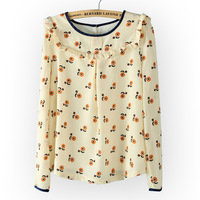2013 women's three-dimensional laciness belt lining pullover shirt