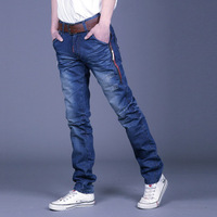Free shipping,2013 New Men's Jeans,Slim Fit Straight Trousers,Zipper Style ,dropshipping M198