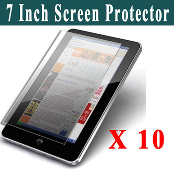 New 10 Pcs/lot Universal 7 Inch Lcd Screen Protector Film Guard Sticker For MID/Tablet/GPS Screen Guard Front Freeshipping
