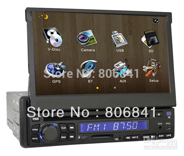1 din car dvd with GPS Car Video Radio 7 inch 3D UI PIP SWC BT IPOD TV Subwoofer USB/SD 4G sd map 8200(China (Mainland))