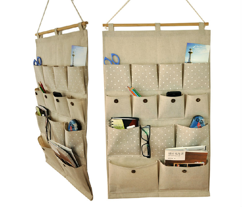 Free shippping Signature Cotton hanging bag ,storage bag ,hanging organizer,Cosmetic hangling bag(China (Mainland))