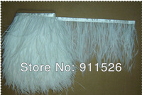 "2Meters/ 6-8""white Trim Ostrich Fringe fluffy ostrich plumes feather feathers centerpieces wedding Clothing decoration"