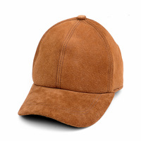 Baseball cap male autumn and winter men's genuine leather hat casual suede hat adjustable