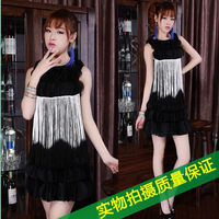 Spring and summer women's elegant fashion sexy slim hip tassel sleeveless one-piece dress