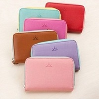 Free shipping Fashion women's wallet card holder card case PU female bag coin purse bag pouch