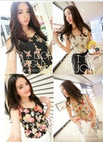 New fashion han edition dress custom-made for the joker chiffon small vest summer render unlined upper garment to free shipping