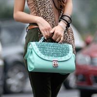 Free shipping Totes women's handbag one shoulder cross-body bags bag knitted hasp rivet women's bags