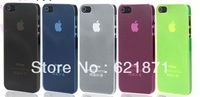 Free shipping 0.2mm Ultra Thin case for iPhone 5, Slim Matte frosting Transparent Cover Case For iPhone5