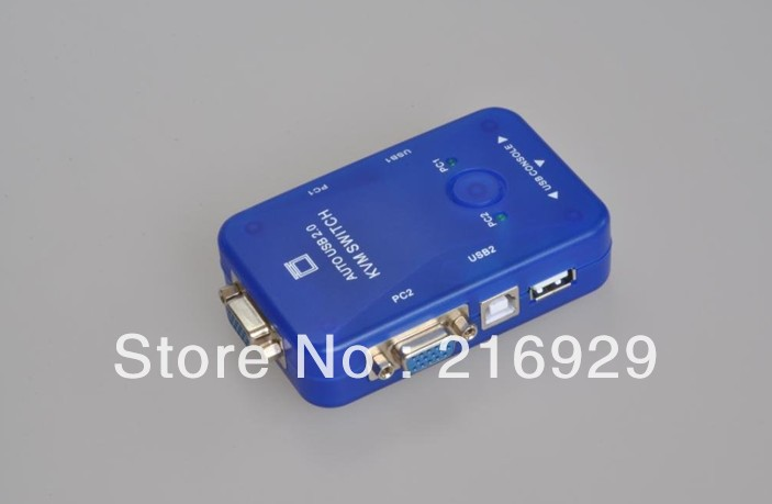 Free Shipping+Tracking number 2-PORTS USB manual KVM MONITOR VGA/SVGA SWITCH/2 port KVM SWITCH(China (Mainland))