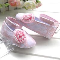 Pink lace rose princess baby toddler shoes q150