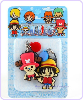 40PAIRS Japan One Piece DOLL Cell Mobile Phone Strap Charm Lanyard Chain DOLL; Phone Strap Pendant DOLL; BAG Key Chain DOLL