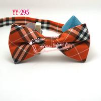 Free shipping,Excellent quality,Vintage Men Diamond Tartan Argyle Check Cotton Wedding Pre-tie Bowtie Tie Orange B16
